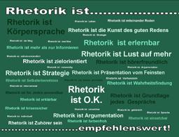 Postkarte - Rhetorik ist...