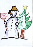schneemann_weihnachtsbaum _ betriebliche Weihnachtsansprache