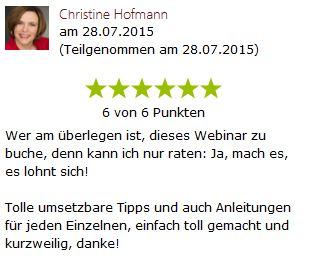 1x1 Schlusssatz Frau Hofmann