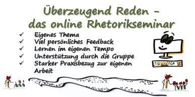 Überzeugend reden - das online Rhetorikseminar